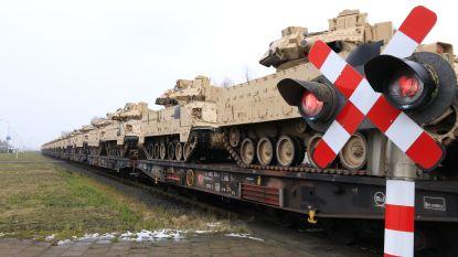 Eerste treinen met Amerikaans legermateriaal vertrokken richting Oost-Europa