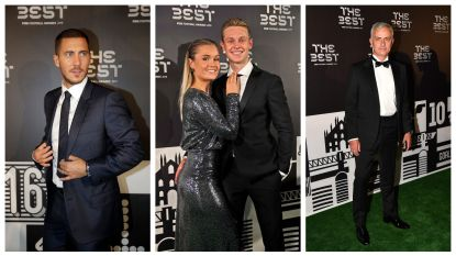 IN BEELD. Van Hazard tot Messi: internationale vedetten arriveren in stijl op FIFA-gala
