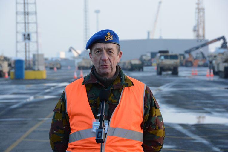 Provinciecommandant, kolonel Paul Haccuria, leidt de operatie mee in goede banen.