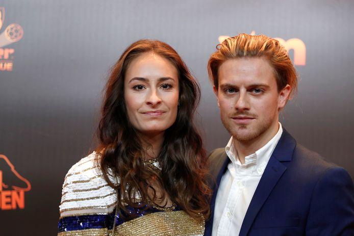 Tessa Wullaert en partner Mathias Deveugele.