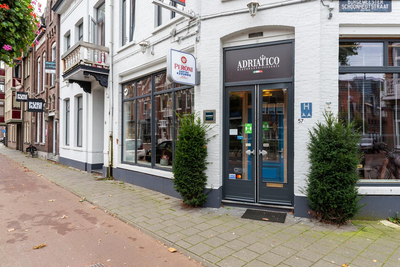 Restaurant Adriatico aan de Brugstraat in Roosendaal