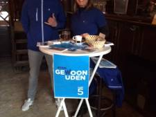 Politieke partijen trotseren de kou voor de kiezers in Uden