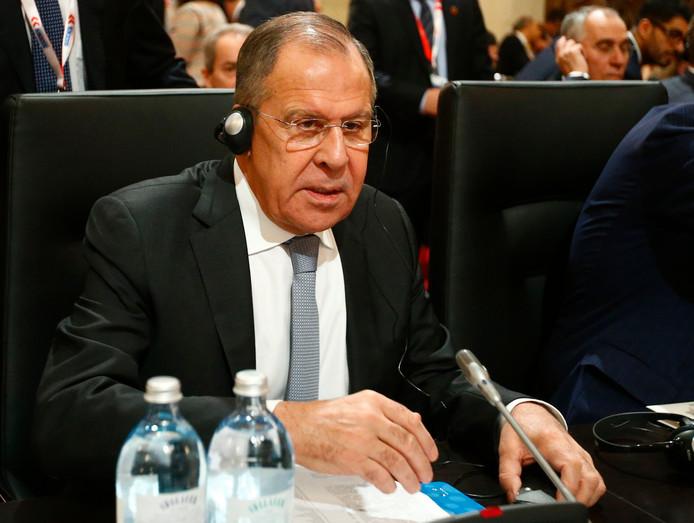 Russisch minister van Buitenlandse Zaken Sergei Lavrov.