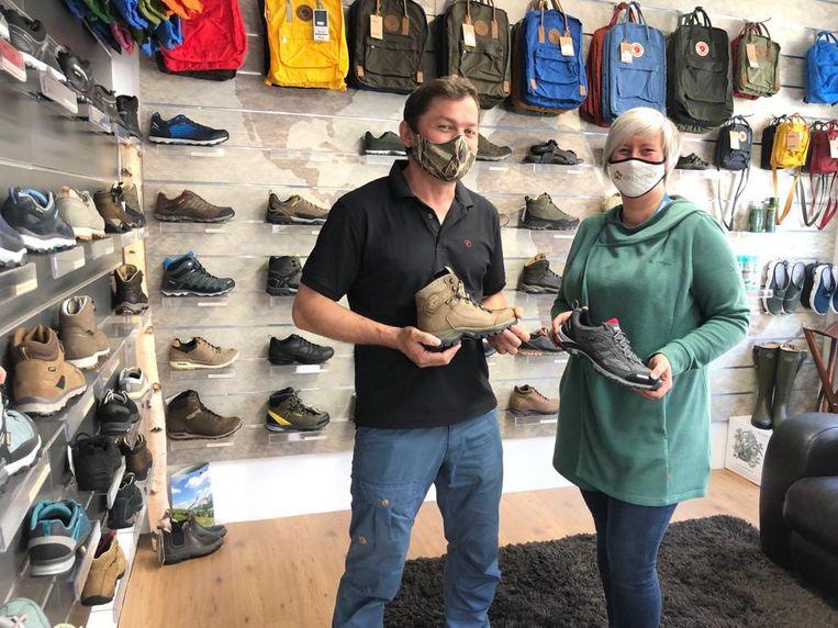 Thomas en Helga verkopen nu veel wandelschoenen