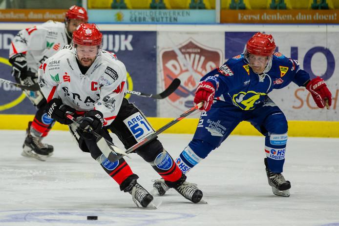 Nijmegen Devils in actie in een eerdere wedstrijd.