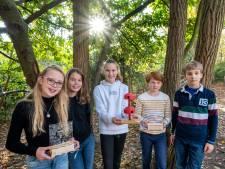 Velpse kinderen winnen prijs met idee voor boomwoningen van gerecycled plastic