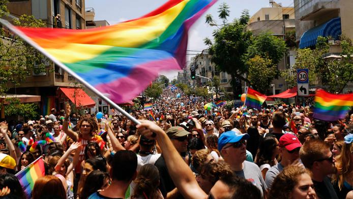De gay pride in Tel Aviv.
