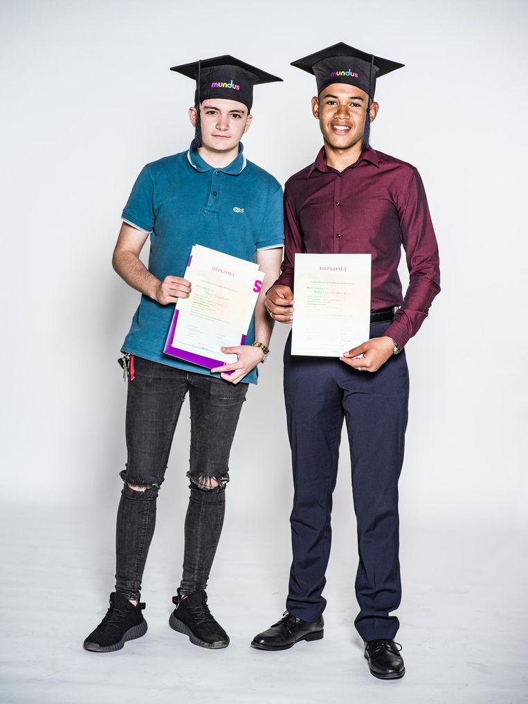 Ismael Aznnak (18) en Weslley da Silva (19) Beeld Cees Glastra van Loon