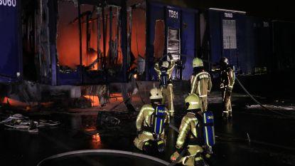 Zes opleggers uitgebrand bij transportbedrijf