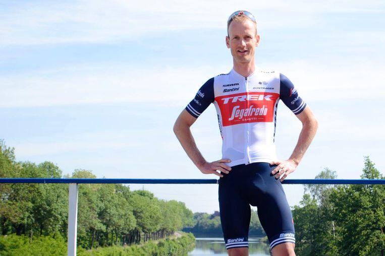 Pieter Weening in zijn nieuwe outfit. Beeld Trek-Segafredo