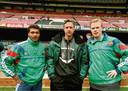 Johan Cruijff met zijn sterspelers Romario en Ronald Koeman in 1997.