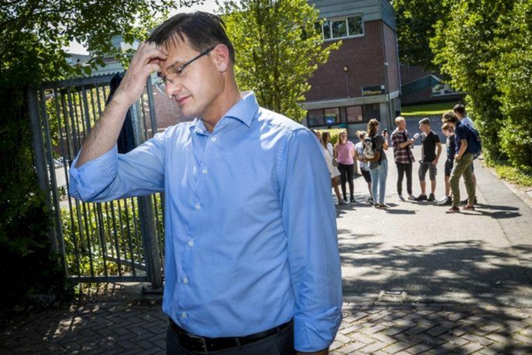 Voorzitter André Postema van het college van bestuur van het Limburgs Voortgezet Onderwijs (LVO). Beeld ANP