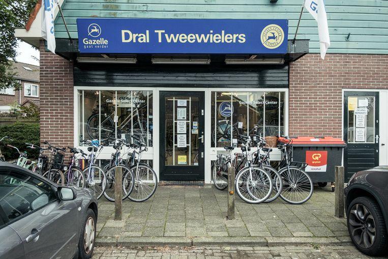 De zaak van Dral Tweewielers in Landsmeer. Beeld Jakob Van Vliet