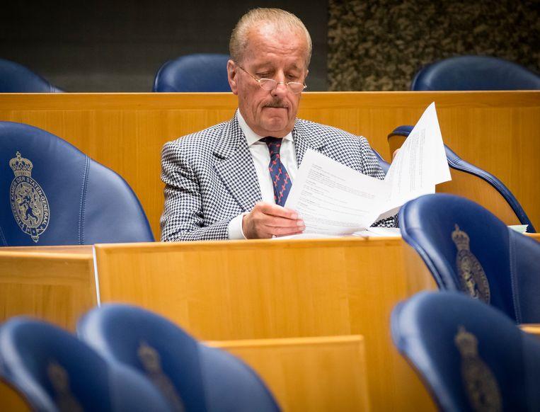 Theo Hiddema in de Kamer: 'Anders dan in de rechtszaal'. Beeld ANP