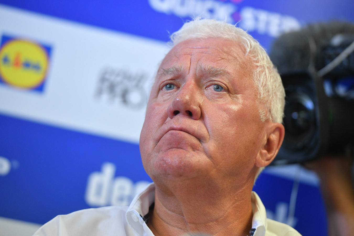 Patrick Lefevere, le manager général de l'équipe Deceuninck-Quick Step
