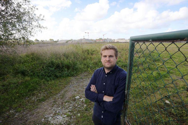 Woordvoerder Ben Peperstraete aan de site van de vroegere Suikerfabriek.