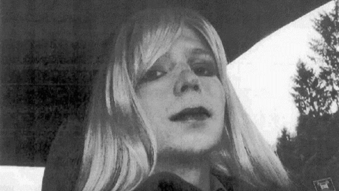 De oude foto van Chelsea Manning.