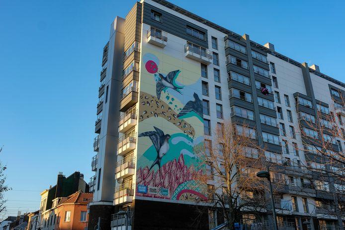 Fresco naar aanleiding van het Balkan Trafik!-festival