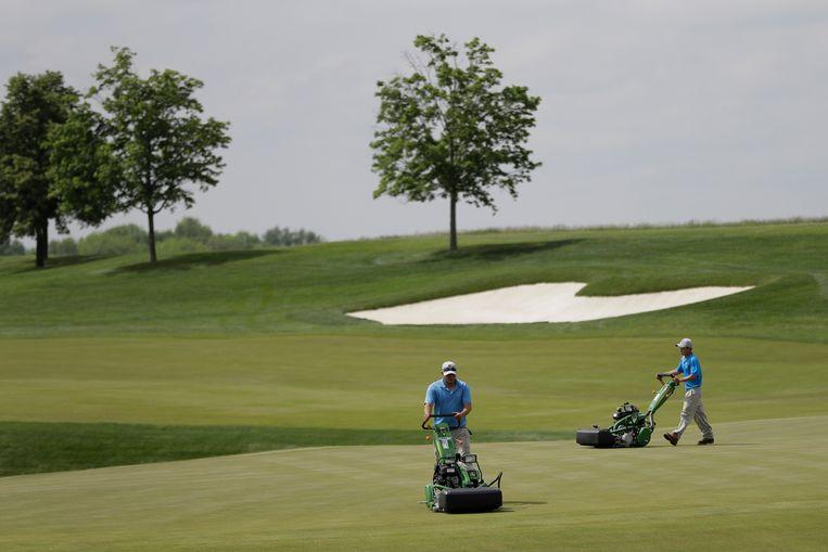 De Trump National Golf Club in Bedminster in de staat New Jersey.  Met Mar-A-Lago in Florida is het een van de Trump-eigendommen die de president het meest bezoekt. Beeld AP