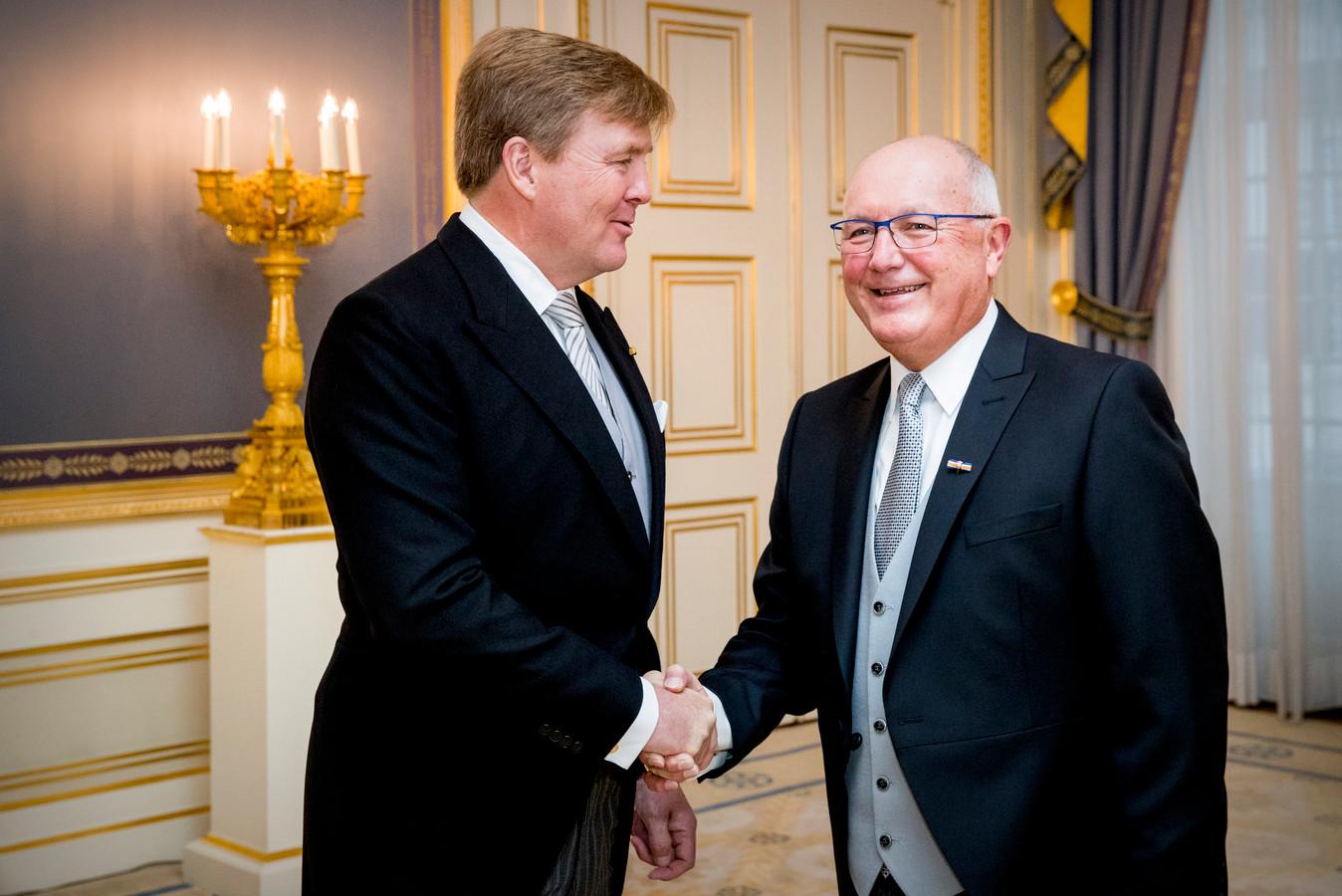 Koning Willem-Alexander ontvangt de geloofsbrieven van de ambassadeur van de Verenigde Staten