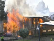 Te vroeg weggegooide vuurkorf zet schuurtje in Valkenswaard in brand