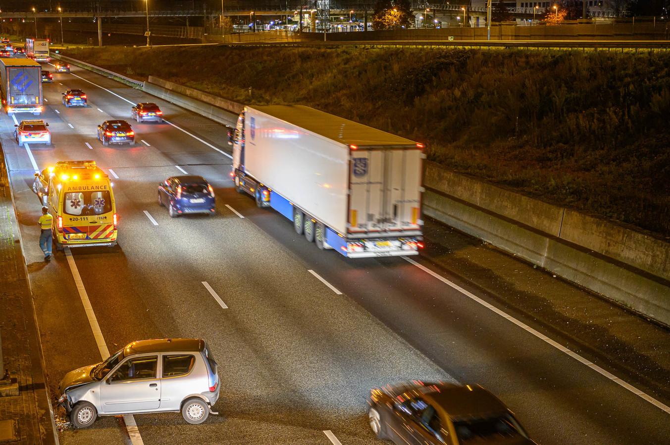 Ongeval op A16 bij Prinsenbeek