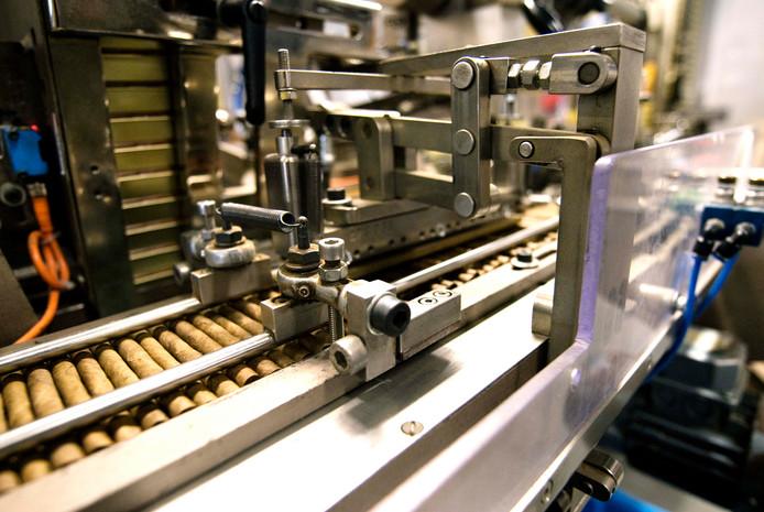 Een sigarenmachine bestemd voor de Agio fabrieken van Wintermans.