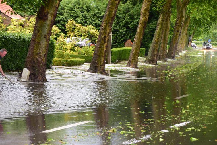 Hier en daar was er ook beperkte wateroverlast.