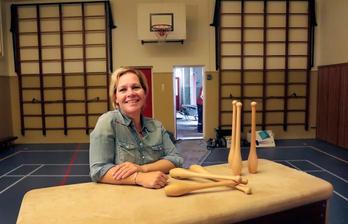 Yolanda van Gastel , kocht een gymzaal en heeft er grote plannen mee.