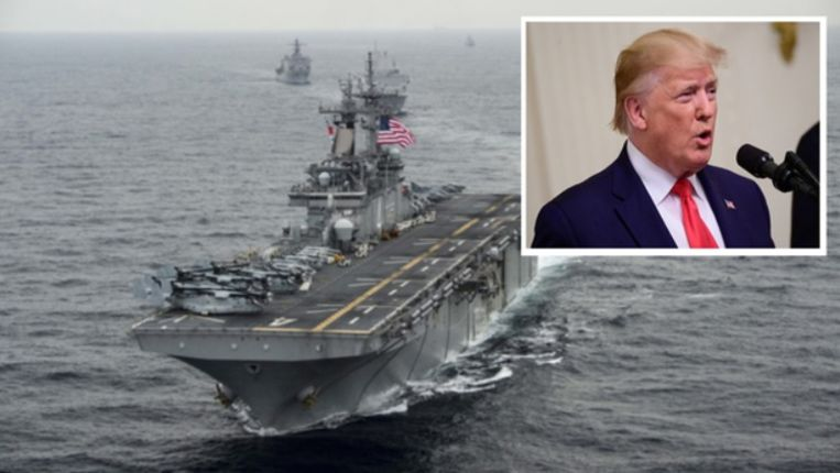 De Iraanse drone(s) zouden het Amerikaanse amfibie-aanvalsschip USS Boxer hebben benaderd op een afstand van minder dan een kilometer.