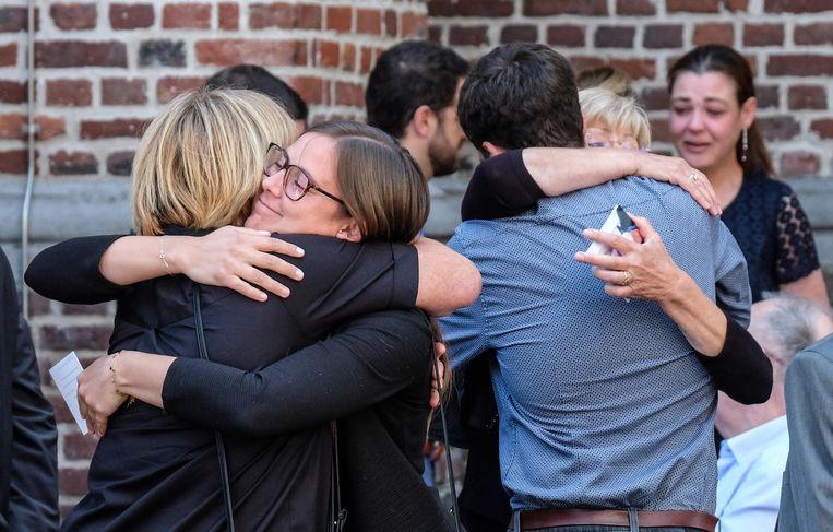 Familie en vrienden namen afscheid van oud-burgemeester Gerda Mylle.