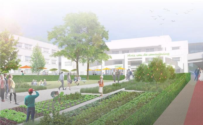 Droombeeld van het toekomstige Raadhuisplein in Soest.