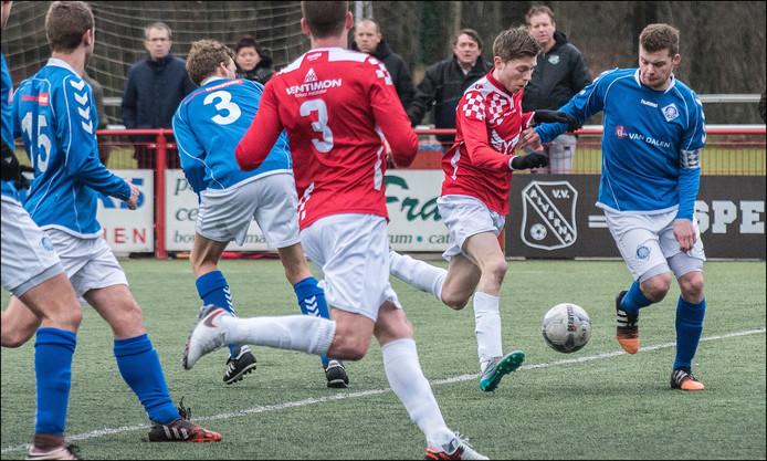 De uitwedstrijd in Zwolle tegen Dieze West eindigde 0-0. Archieffoto Theo Peeters
