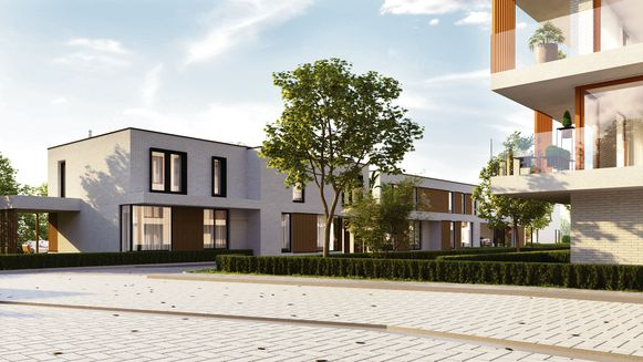 Naast het nieuwe appartementencomplex komen zeven nieuwbouwwoningen.