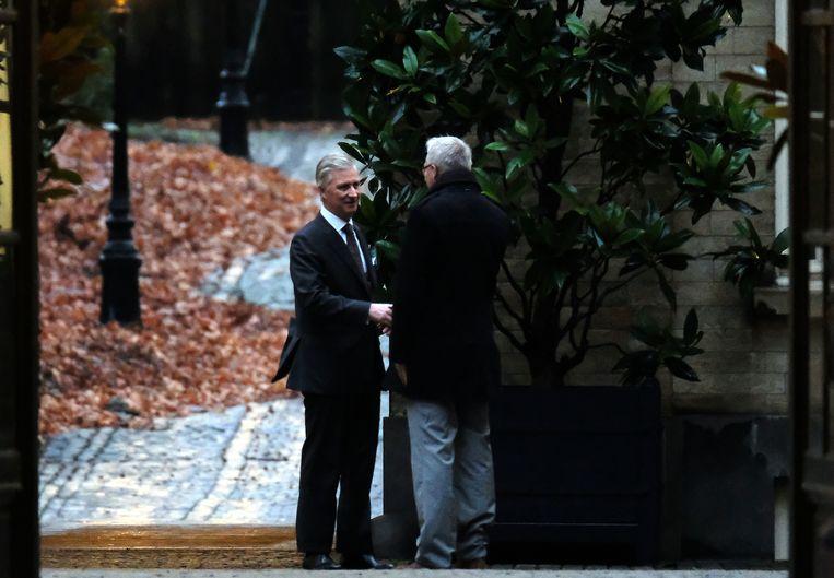 PVDA-voorzitter Peter Mertens kwam vanmorgen als laatste partijvoorzitter aan de beurt.