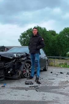Mart (18) wou van zijn Golf af, maar niet zo: Dief rijdt auto in achtervolging total loss