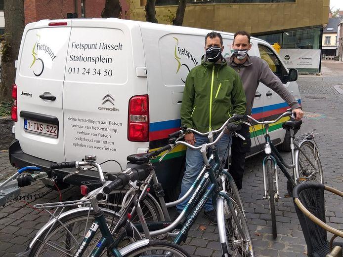 Fietspunt krijgt 30 fietsen met bruikbare onderdelen van Stad Hasselt.