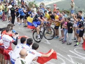 Acrobaat Stybar verzorgde gisteren mee de show op Peña Cabarga