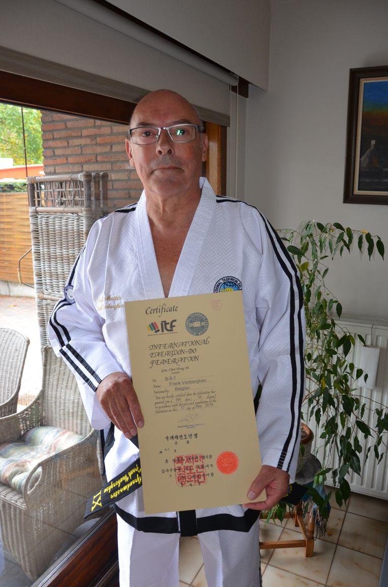 Frank Vanberghen is de eerste Belg die zich Grandmaster Taekwondo mag noemen.