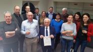 Ere-burgemeester Albert Vandezande ontvangt Burgerlijk Kruis Eerste Klasse