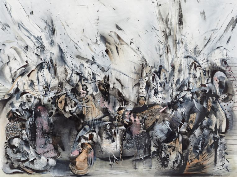 Ali Banisadr, Broken Land, 2015. Beeld .