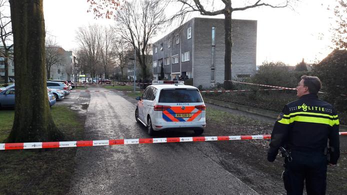 De politie heeft het gebied ruim afgezet.