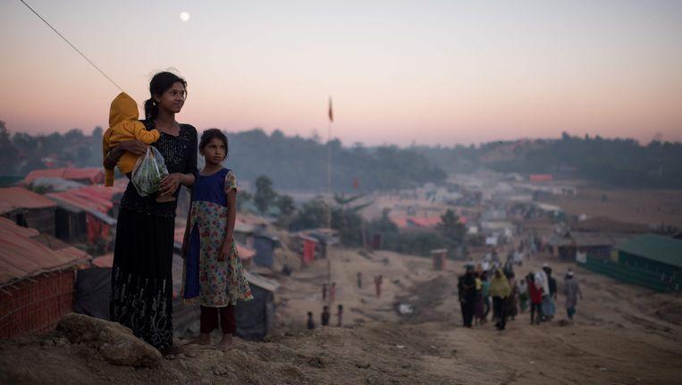 Rohingya-migranten in het vluchtelingenkamp Thankhali in Bangladesh. Beeld afp