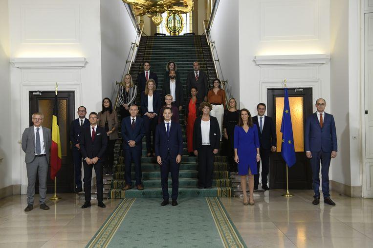 De regeringsfoto Beeld BELGA