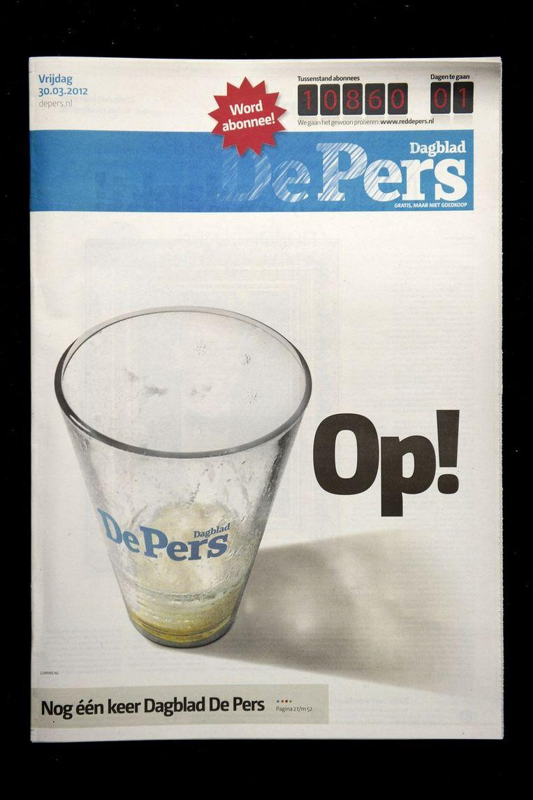 De laatste editie van De Pers. Beeld null