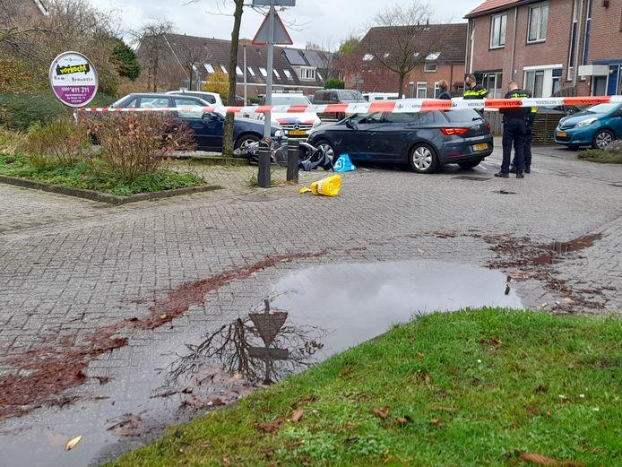 De straat was tijdelijk afgezet na de achtervolging in Lelystad.