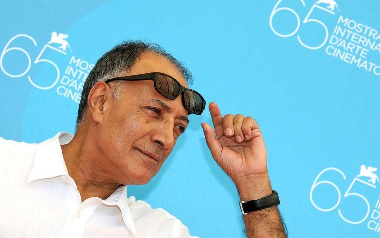 Abbas Kiarostami tijdens het Venice Film Festival in 2008. Beeld epa