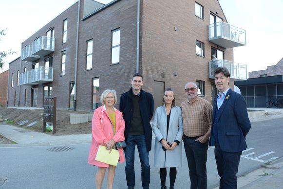 In de Daalstraat werd een nieuw complex opgetrokken met 12 sociale huurappartementen.