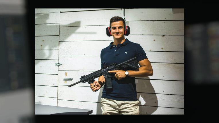Foto van Dries Van Langenhove die getoond werd in de reportage.