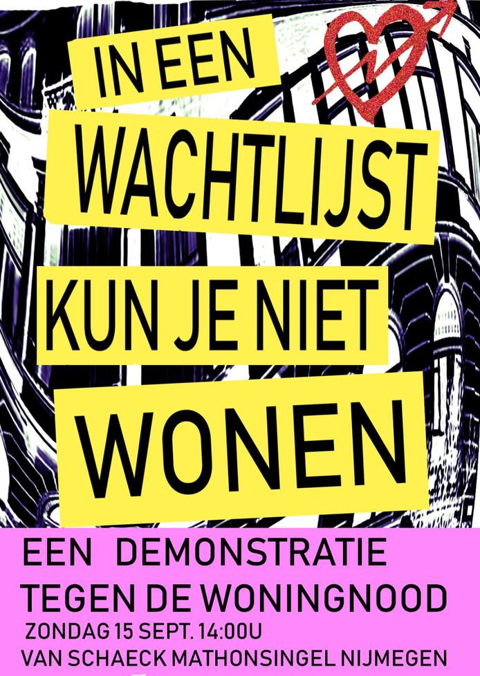 Poster van demonstratie in Nijmegen